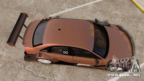 Audi A4 2008 Touring car para GTA 4 visión correcta