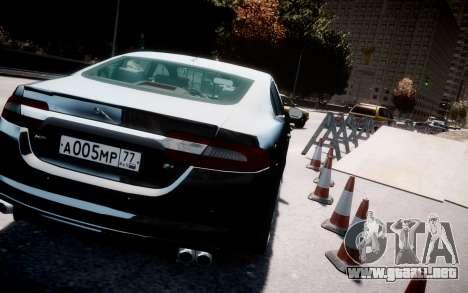 Jaguar XF-R 2012 v1.2 para GTA 4 vista interior