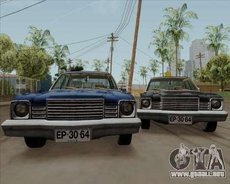 Dodge Aspen para la visión correcta GTA San Andreas