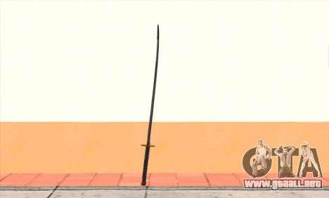 Katana para GTA San Andreas segunda pantalla