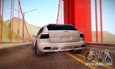 Porsche Cayenne para GTA San Andreas vista hacia atrás
