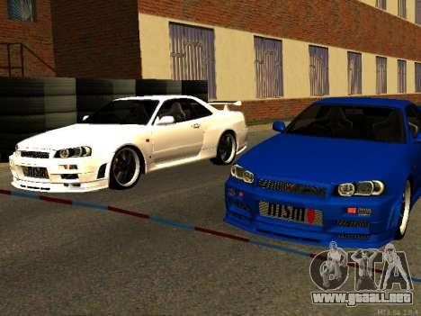 Nissan Skyline R34 GT-R para visión interna GTA San Andreas