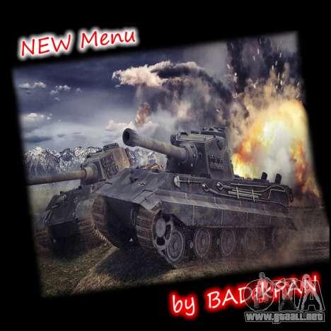 Menú de World of Tanks para GTA San Andreas