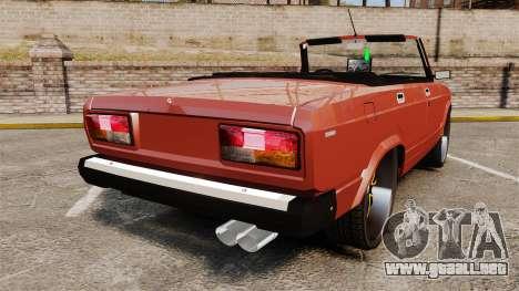 VAZ-2107 Donk Estilo para GTA 4 Vista posterior izquierda