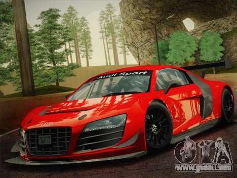Audi R8 LMS Ultra W-Racing Team Vinyls para GTA San Andreas left