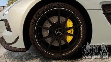 Mercedes-Benz SLS 2014 AMG Black Series para GTA 4 vista hacia atrás
