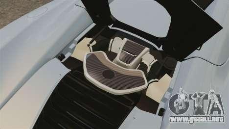 McLaren MP4-12C Spider 2013 para GTA 4 vista hacia atrás