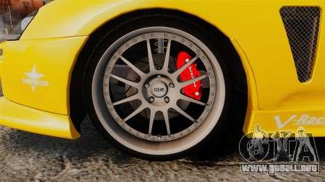 Toyota Supra 1994 (Mark IV) Slap Jack para GTA 4 vista hacia atrás