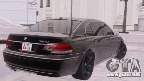BMW 750Li E66 para vista lateral GTA San Andreas