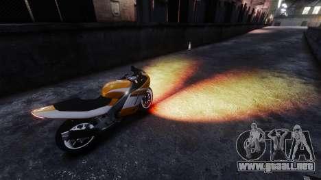 La ardiente luz de los faros para GTA 4 segundos de pantalla