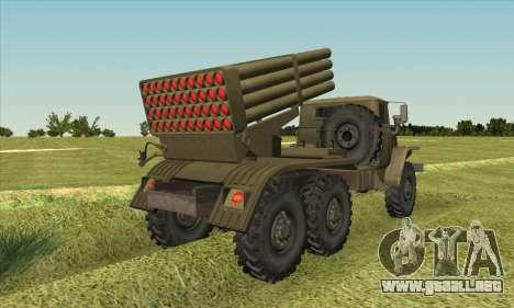 Ural 375 BM-21 para GTA San Andreas left