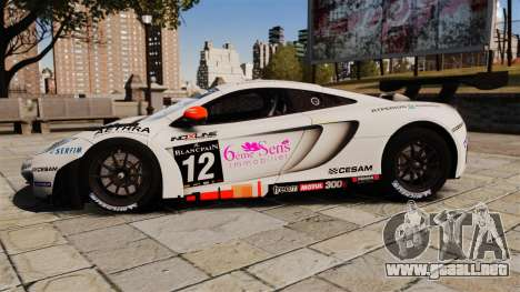 McLaren MP4-12C GT3 para GTA 4 left