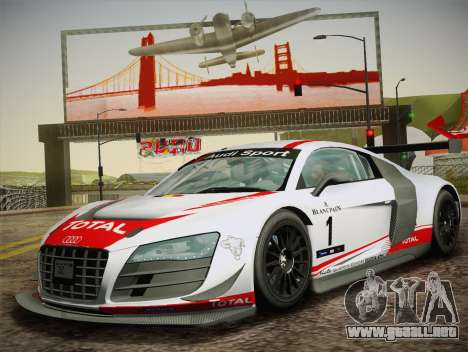 Audi R8 LMS Ultra W-Racing Team Vinyls para visión interna GTA San Andreas