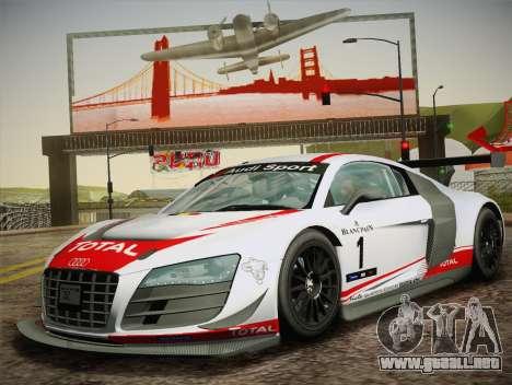 Audi R8 LMS Ultra W-Racing Team Vinyls para visión interna GTA San Andreas