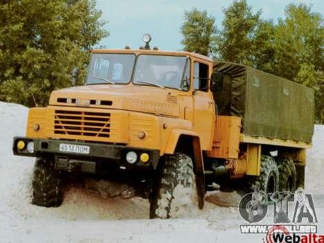 Inicio pantallas Soviética Camiones para GTA San Andreas quinta pantalla