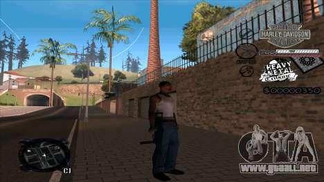 C-Hud Heavy Metal para GTA San Andreas segunda pantalla