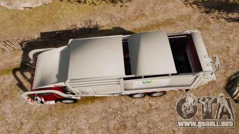 Mack MR 688S Front Load 2000 para GTA 4 visión correcta
