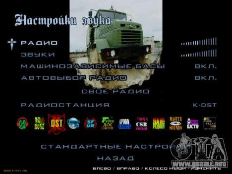 Inicio pantallas Soviética Camiones para GTA San Andreas décimo de pantalla