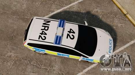 Ford Focus Estate Essex Police [ELS] para GTA 4 visión correcta