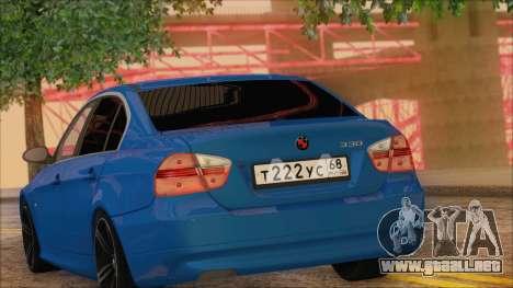 BMW 330i para GTA San Andreas vista hacia atrás