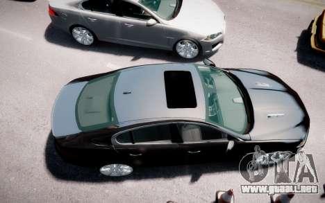 Jaguar XF-R 2012 v1.2 para GTA 4 vista hacia atrás