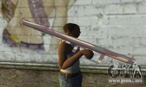 Lanzador de cohetes para GTA San Andreas tercera pantalla