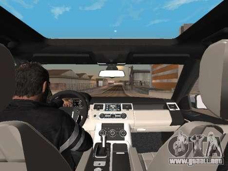 Range Rover Sport 2011 para visión interna GTA San Andreas