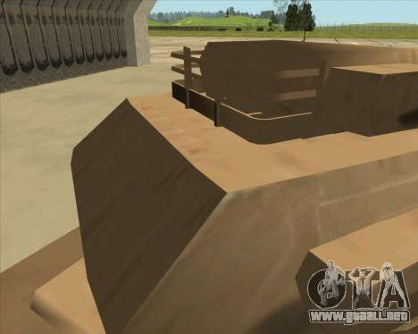 Rhino Mark.VI para GTA San Andreas vista hacia atrás
