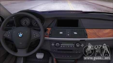 BMW X5M para GTA San Andreas vista posterior izquierda