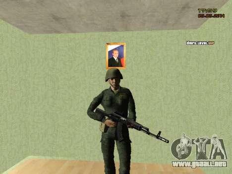 El ejército ruso moderno para GTA San Andreas sucesivamente de pantalla