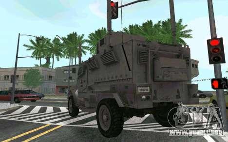 MRAP Mèxico Marina para la visión correcta GTA San Andreas