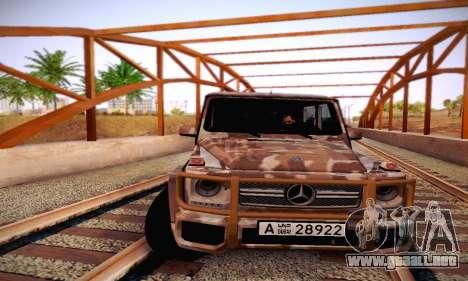 Mercedes Benz G65 Army Style para la vista superior GTA San Andreas