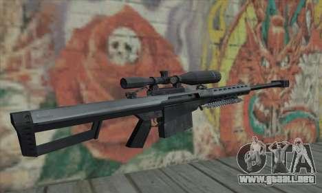 M82A1 Barret .50cal para GTA San Andreas segunda pantalla