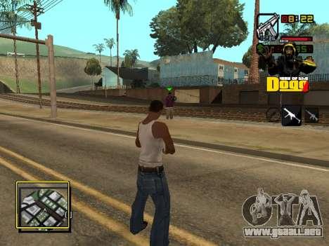 C-HUD Snoop Dogg para GTA San Andreas sucesivamente de pantalla