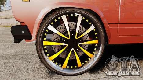 VAZ-2107 Donk Estilo para GTA 4 vista hacia atrás