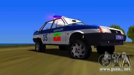 VAZ 21099 milicia para GTA Vice City visión correcta