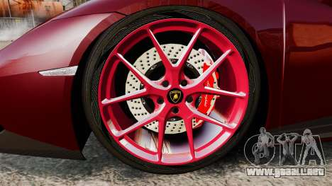 Lamborghini Huracan 2014 Oakley Tuning para GTA 4 vista hacia atrás