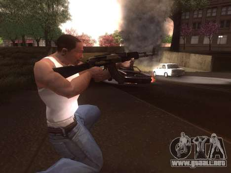 AK-103 para GTA San Andreas quinta pantalla