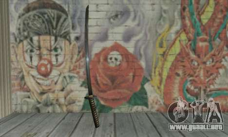 Samurai katana para GTA San Andreas