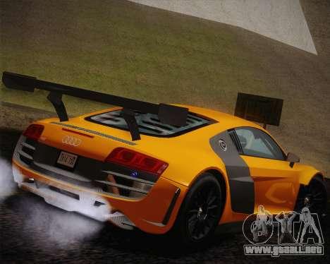 Audi R8 LMS Ultra Old Vinyls para GTA San Andreas left