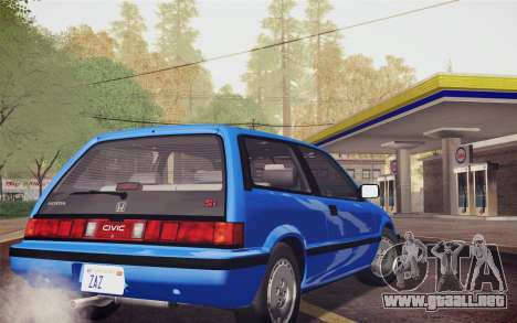 Honda Civic S 1986 IVF para GTA San Andreas left