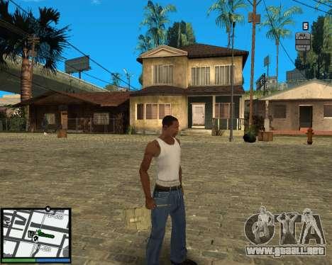 GTA V hud para GTA San Andreas segunda pantalla