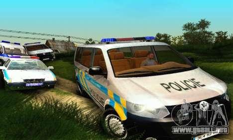 Volkswagen Transporter Policie para vista lateral GTA San Andreas