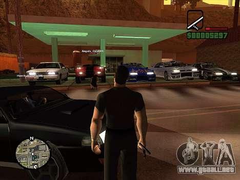SA-MP 0.3z para GTA San Andreas quinta pantalla