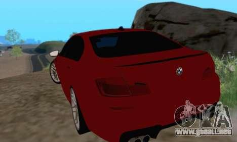 BMW M5 F10 v1.1 para la visión correcta GTA San Andreas