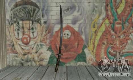 Samurai katana para GTA San Andreas segunda pantalla