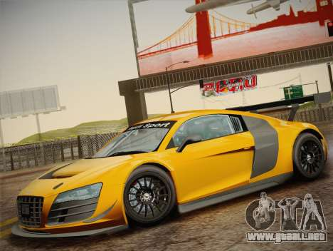 Audi R8 LMS Ultra W-Racing Team Vinyls para la vista superior GTA San Andreas