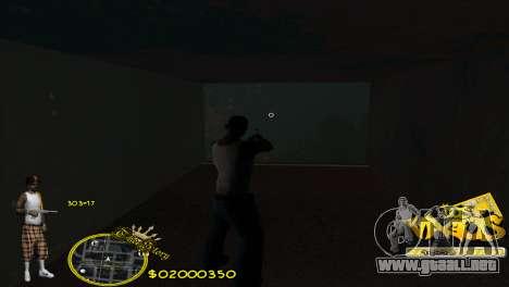 C-HUD Vagos by HARDy para GTA San Andreas segunda pantalla