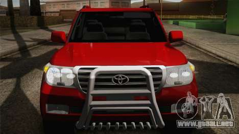 Toyota Land Cruiser 200 para la vista superior GTA San Andreas