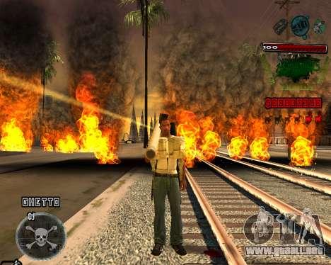 C-HUD Grove St para GTA San Andreas segunda pantalla